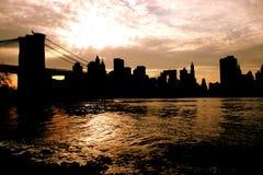 Stadtschattenbild Lizenzfreie Stockfotografie