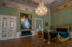 Stadtschloss的卧室在威玛 免版税库存照片