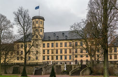 Stadtschloss in Fulda, Germany. View of City Palace (Stadtschloss) from garden, Fulda, Germany Stock Images