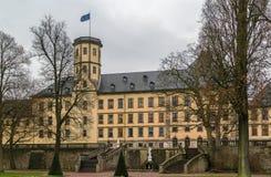 Stadtschloss i Fulda, Tyskland Arkivbilder