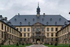 Stadtschloss (main entrance) at Fulda, Germany. Main entrance of city Palace (Stadtschloss) in Fulda, Germany royalty free stock images