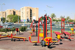 Stadtsimulator Spielplatz Stockbild