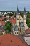 Stadtskapelle, bad wimpfen. Aerial view of church in ancient city center Stock Photography