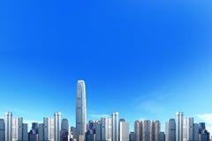 Stadtskyline mit blauem Himmel lizenzfreie stockbilder