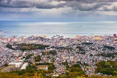 Stadtskyline Otarus, Hokkaido, Japan lizenzfreies stockfoto