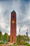 Stadtskyline Spartanburg South Carolina und in die Stadt umgeben Stockbilder