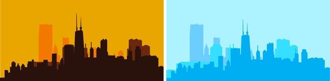 Stadtskyline-Vektorillustration Stockfotos