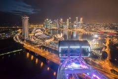 Stadtskyline von Singapur-Fliegern lizenzfreie stockbilder