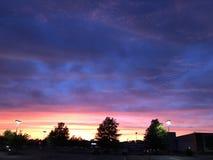 Stadtsonnenuntergang in Richmond VA lizenzfreie stockfotos