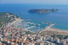 Stadtspaniens Estartit Medes-Inseln Mittelmeer lizenzfreie stockbilder