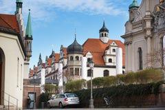 Stadtsparkasse byggnader i Munich Arkivfoton