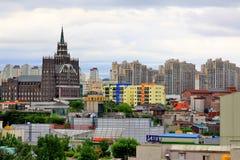 Stadtstadtbild Koreas Suwon Lizenzfreies Stockfoto