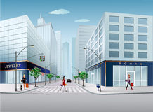 Stadtstraße lizenzfreie abbildung