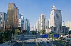 Stadtstraße Guangzhou lizenzfreies stockfoto