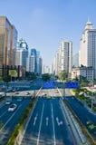 Stadtstraße Guangzhou stockbild