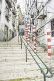 Stadtstraßearbeiten Stockfotos