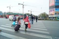 Stadtstraßebaulandschaft Lizenzfreies Stockfoto