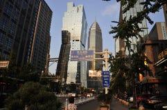 Stadtstraßen Shaoxings China stockfoto