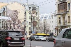 Stadtstraßen verstopft stockfotos