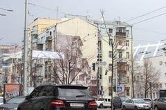 Stadtstraßen verstopft stockbilder