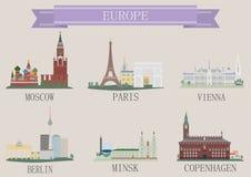 Stadtsymbol. Europa Lizenzfreies Stockbild