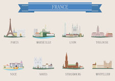 Stadtsymbol. Frankreich Lizenzfreies Stockbild