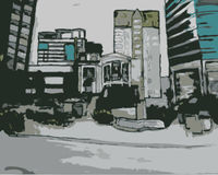 Stadtszene lizenzfreie abbildung