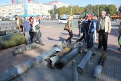Stadttag in Luhansk Stockfotos