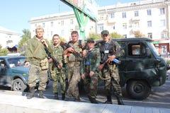Stadttag in Luhansk Stockfoto