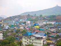 Stadtteil von Munnar, Tamil Nadu, Indien Stockfotografie