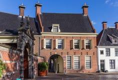 Stadttor Gardepoort am Martinihof-Quadrat in Groningen stockfoto