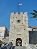 Stadttor von Korcula in Kroatien lizenzfreie stockfotografie