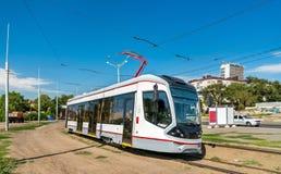 Stadttram in Rostov-On-Don, Russland lizenzfreies stockbild