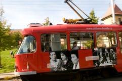 Stadttrams in Liberec lizenzfreie stockbilder