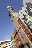 Stadtturm, Innsbruck. Tilted angle from Stadtturm in Innsbruck Royalty Free Stock Photo