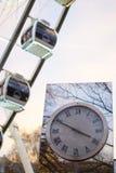 Stadtuhr an Budapest-Auge Lizenzfreie Stockfotos