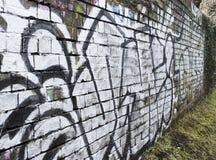 Stadtverfallgraffiti auf Wand lizenzfreie stockfotografie