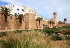Stadtwände von Essaouira Lizenzfreies Stockfoto