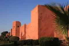 Stadtwand in Marrakesch Stockbild