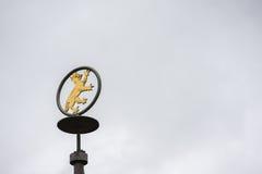 Stadtwappen Biberach ein der Riss, Deutschland Lizenzfreies Stockbild