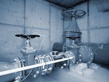 Stadtwasserservice 500mm Wasserrohrleitung mit Ventil Stockbild