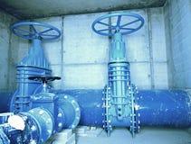 Stadtwasserservice 500mm Wasserrohrleitung mit Ventil Stockfotos