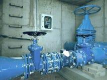 Stadtwasserservice 500mm Wasserrohrleitung mit Ventil Lizenzfreies Stockfoto