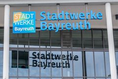 Stadtwerke Байройт - электричество - газ - вода Стоковая Фотография RF