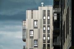 Stadtwohngebäude des modernen Designs Stockbild
