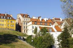 Stadtwohnungen der alten Stadt in Warschau Stockbilder