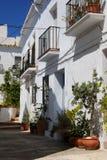 Stadtwohnungen, Frigiliana, Andalusien, Spanien. Lizenzfreie Stockfotos