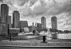 Stadtzentrum in Boston, die Vereinigten Staaten von Amerika Lizenzfreies Stockfoto