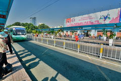 Stadtzentrum-Busbahnhof Ho Chi Minh-Stadt vietnam Stockbild