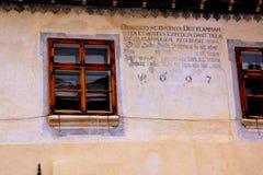Stadtzentrum der mittelalterlichen Stadt Sighisoara Stockbilder